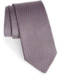 Ferragamo - Forte Geometric Print Silk Tie - Lyst