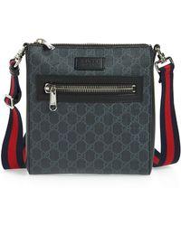 8bd9648e2eb Lyst - Gucci Black Original Gg Canvas Messenger Bag in Black for Men