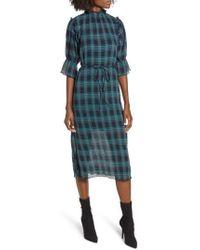 The Fifth Label - Zone Tartan Midi Dress - Lyst