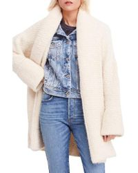 Free People - Bo Peep Sweater Jacket - Lyst