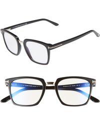 e9e9894db88b Lyst - Tom Ford 55mm Blue Block Optical Glasses - Dark Havana  Blue ...