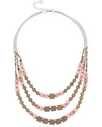 Nakamol - Three Layer Metal Necklace - Lyst