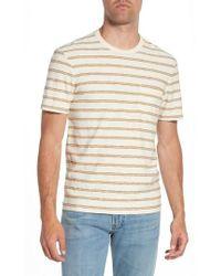 James Perse - Vintage Stripe Pocket T-shirt - Lyst