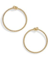 Kate Spade - Sailor Knot Door Knocker Hoop Earrings - Lyst