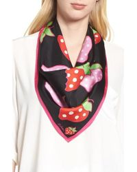 Echo - Strawberry Patch Square Silk Scarf - Lyst