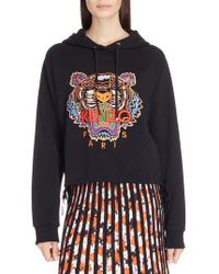 KENZO - Tiger Embroidered Hoodie - Lyst