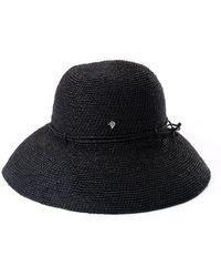 1ed83449dd95f Lyst - Helen Kaminski Provence 8 Brim Raffia Hat in Brown
