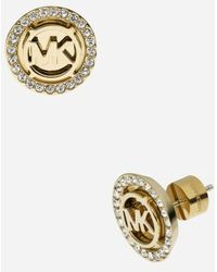 MICHAEL Michael Kors - Michael Kors 'monogram' Stud Earrings - Lyst