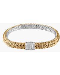 John Hardy - 'classic Chain' Diamond Two-tone Bracelet - Lyst