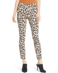 Mother - The Looker High Waist Frayed Ankle Skinny Jeans - Lyst