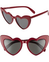 Saint Laurent - Loulou 54mm Heart Sunglasses - Lyst