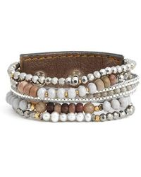 Nakamol | Beaded Wrap Bracelet | Lyst