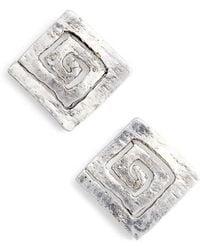 Karine Sultan - Square Stud Earrings - Lyst