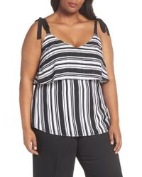City Chic - Stripe It Lucky Top - Lyst