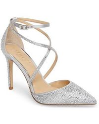 Badgley Mischka - Tanya Embellished Pointy Toe Pump - Lyst