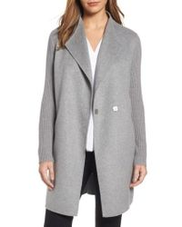 Kenneth Cole - Double Face Coat - Lyst