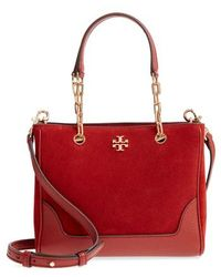 Tory Burch - Small Marsden Suede & Leather Tote - Lyst