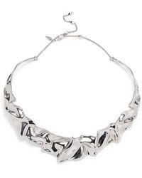 Alexis Bittar - Crumpled Rhodium-plated Collar Necklace - Lyst