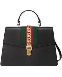 Gucci - Maxi Sylvie Top Handle Leather Shoulder Bag - - Lyst