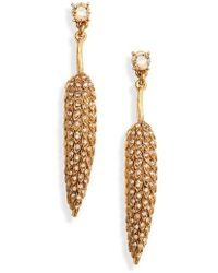 Oscar de la Renta - Wildflower Linear Earrings - Lyst