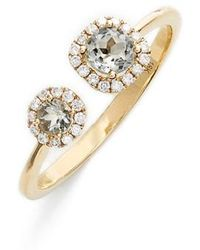 Bony Levy - Iris Double Semiprecious Stone & Diamond Ring (nordstrom Exclusive) - Lyst