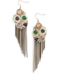 Mad Jewels - Goddess Fringe Earrings - Lyst