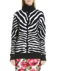 Michael Kors - Intarsia Zebra Print Cashmere Sweater - Lyst