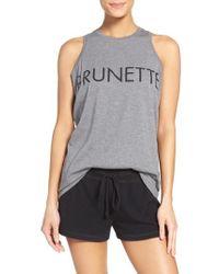 BRUNETTE the Label - Brunette The Mattie - Brunette Lounge Tank - Lyst