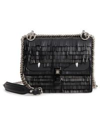 Fendi - Small Kan I Fringe Monster Calfskin Shoulder Bag - Lyst