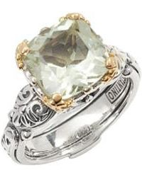 Konstantino - Hermione Two-tone Square Stone Ring - Lyst