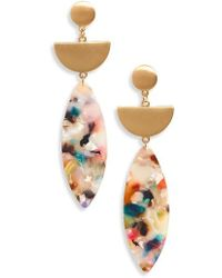 Panacea - Marquise Drop Earrings - Lyst