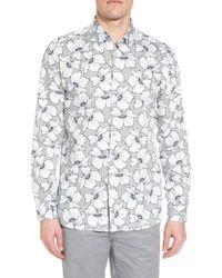 Ted Baker - Ligflo Trim Fit Floral Print Sport Shirt - Lyst