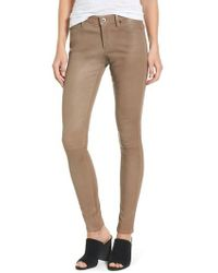 AG Jeans - The Legging Super Skinny Leather Pants - Lyst