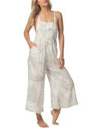 f602869bb05f Lyst - Rip Curl  ritual  Embroidered Jumpsuit in Black
