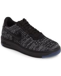 8136baf7b21d0 Lyst - Nike Air Force 1 Flyknit Low - Women s Nike Air Force 1 ...