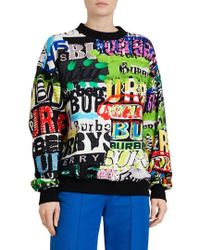Burberry - Aner Graffiti Logo Cotton Jersey Sweatshirt - Lyst