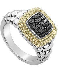 Lagos - Diamond Lux Black Diamond Square Ring - Lyst