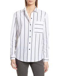 ATM - Railroad Stripe Boyfriend Shirt - Lyst