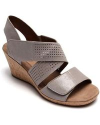 Cobb Hill - Janna Cross Strap Wedge Sandal - Lyst