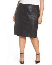 Sejour - Leather Pencil Skirt - Lyst