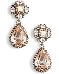 Sorrelli - Posey Crystal Drop Earrings - Lyst