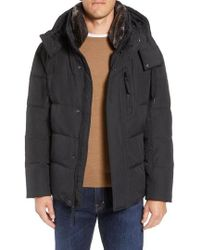 Marc New York - Baltic Faux Fur Trim Down & Feather Fill Parka - Lyst