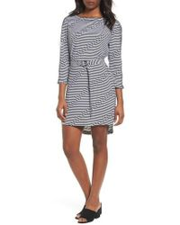 Kenneth Cole - Belted Waist Dress - Lyst