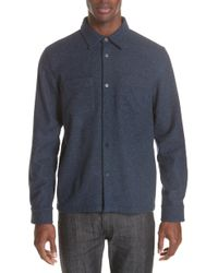 A.P.C. - Surchemise Joe Wool Shirt - Lyst