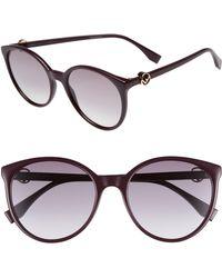 e9045e6dfc89c Lyst - Fendi 51mm Retro Octagon Sunglasses in Metallic