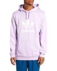 1063d843f3b7 Lyst - adidas Originals Trefoil Logo Pullover Hoodie in Pink for Men