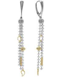 Lagos - 'caviar Icon' Linear Drop Earrings - Lyst