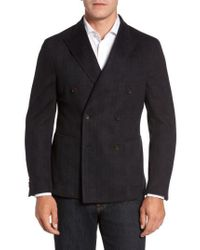 Flynt - Classic Fit Jersey Double-breasted Sport Coat - Lyst