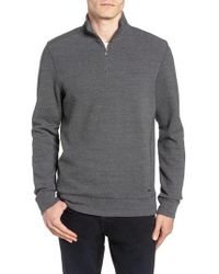 Ted Baker - Slim Fit Quarter Zip Polo - Lyst