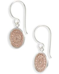 Anna Beck - Circle Drop Earrings - Lyst